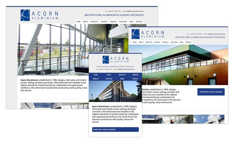 Acorn Aluminium website
