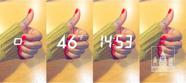 Snapchat time temp speed