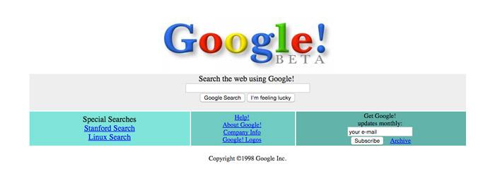 Google Circa 1998