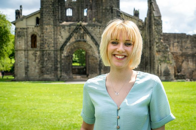 Emily at Kirkstall Abbey