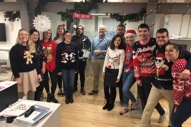 The Harris team takes part in Christmas Jumper Day